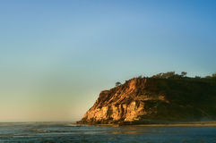Sunset Ocean Cliff, California Stock Images