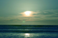 Sunset and ocean. Royalty Free Stock Photo
