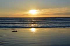 Sunset and ocean. Royalty Free Stock Photos