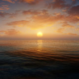 Sunset Ocean Environment Stock Image