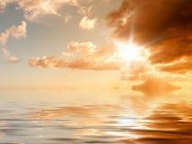 Sunset ocean Stock Photography