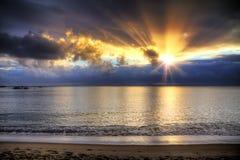Sunset ocean Madagascar Royalty Free Stock Images
