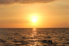 Sunset on Ocean. Orange sunset on the ocean Royalty Free Stock Photos