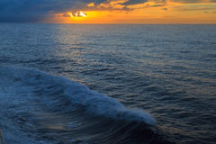 Sunset in ocean. Royalty Free Stock Photos