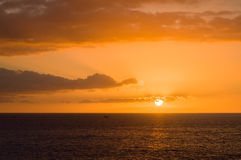 Sunset at ocean Stock Images