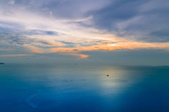 Sunset. On the ocean and river in thailand Royalty Free Stock Photo