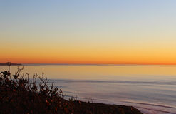 Sunset, Ocean, San Diego, Torrey Pines State Park Stock Images
