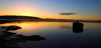 Sunset ocean scene Royalty Free Stock Images