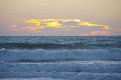Sunset ocean Stock Photography