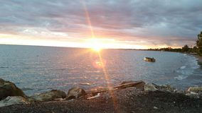 Sunset ocean royalty free stock photo