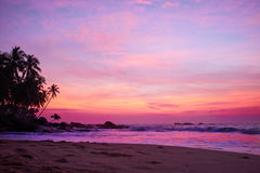 Sunset on the ocean, Royalty Free Stock Images