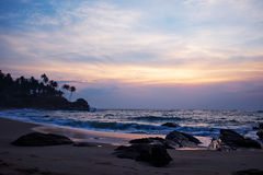 Sunset on the ocean, Sri Lanka beach Stock Photos
