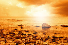 Sunset on the ocean Royalty Free Stock Image