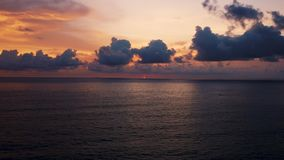 Sunset with ocean view. Aerial view. Uluwatu, Bali Indonesia. Amazing sunset with ocean view. Aerial view. Uluwatu, Bali Indonesia stock video footage