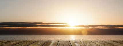 Sunset at the Ocean royalty free stock photos