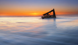 Shipwreck Peter Iredale  Royalty Free Stock Photos