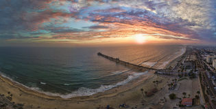 Sunset in Oceanside Royalty Free Stock Image