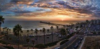 Sunset in Oceanside Royalty Free Stock Image