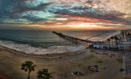 Sunset in Oceanside Royalty Free Stock Photography
