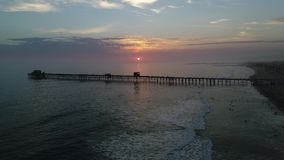 Sunset in Oceanside stock video footage