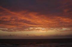 sunset oceanu Zdjęcie Stock