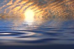 sunset oceanu Fotografia Stock