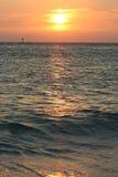 sunset oceanu Zdjęcia Stock