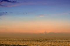sunset oceanu Obraz Stock