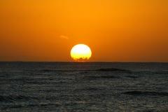sunset oceanu Obrazy Stock