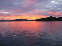sunset oceanu żyje Zdjęcie Stock
