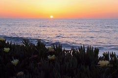 Sunset, Oceanview, La Jolla Cove, California stock images