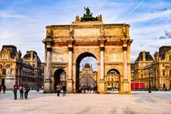 Free Sunset Of Arc De Triomphe Du Carrousel Stock Images - 85259724