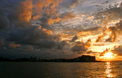 Sunset Of Havana Stock Photography