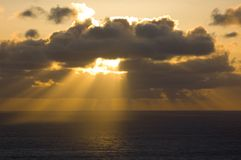 Sunset off of Big Sur Stock Photography