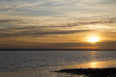 Sunset off Canvey Island, Essex, England Stock Photography