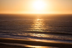 Sunset off the Pacific Coast Highway Stock Image
