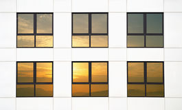 Sunset office Royalty Free Stock Image
