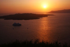 Sunset in Oia Royalty Free Stock Images