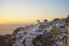 Sunset at Oia Stock Images