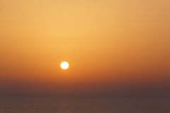 Sunset in Oia. On Santorini Royalty Free Stock Photos