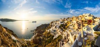 Sunset in Oia, Santorini, Greece Royalty Free Stock Image