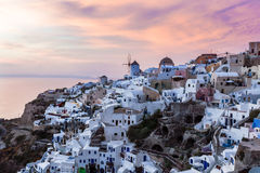 Sunset at Oia Santorini Royalty Free Stock Images