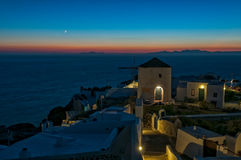Sunset at Oia town Royalty Free Stock Photo