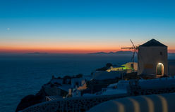 Sunset at Oia town Royalty Free Stock Images