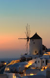Sunset at oia village , Santorini island Stock Photo