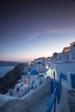 The sunset at Oia village in Santorini island in Greece.  Royalty Free Stock Photo
