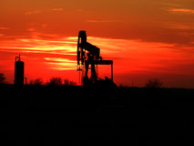 Sunset on the Oil Patch Stock Photography