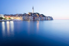 Sunset in old town of Rovinj Royalty Free Stock Image
