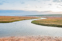 Sunset at the Olifants River estuary Stock Photography