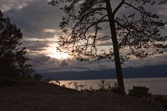 Sunset at Olkhon island Stock Photography